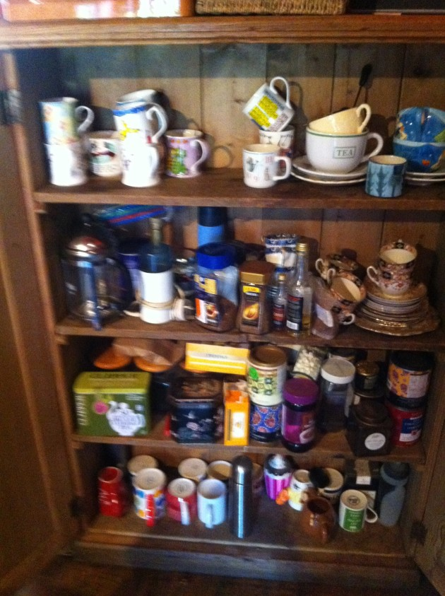 tea cupboard before